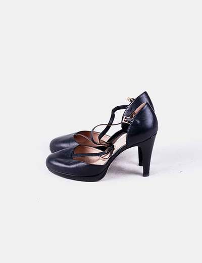 Bout rond sandal noir Fosco