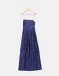 Vestido maxi raso azul marino tirantes Tintoretto