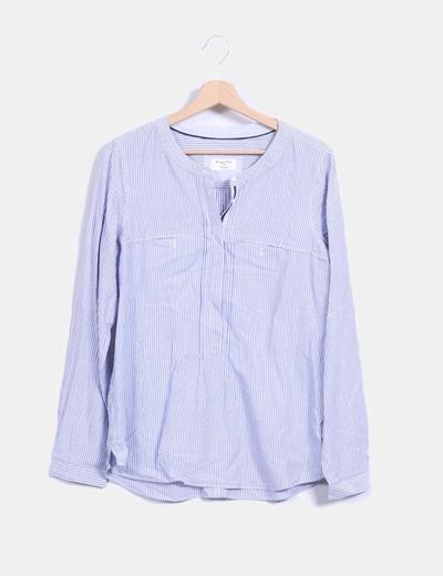 Camisa de rayas azules Massimo Dutti