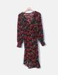 Vestido fluido floral cruzado Monki