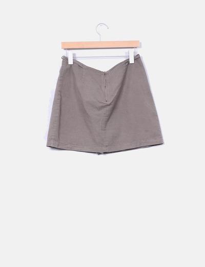 Falda pantalon taupe