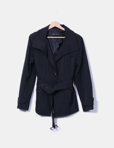 Trench noir court Zara