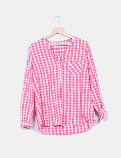 Camisa cuadros rosas y blancos Tex Woman