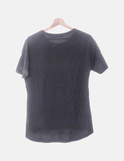 Camiseta Negra Negra Frase Camiseta Con QdtsChr