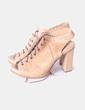 Zapato abotinado camel texturizado Farrutx