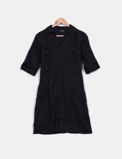 Vestido camisero negro H&M