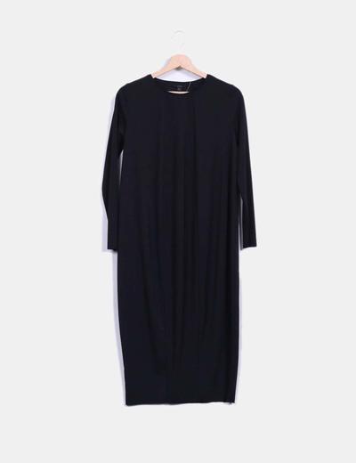 Robe noire à manches larges COS