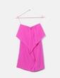 Vestido rosa satén volante Zara