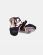 Sandalias negras tacón strass rojo Zara