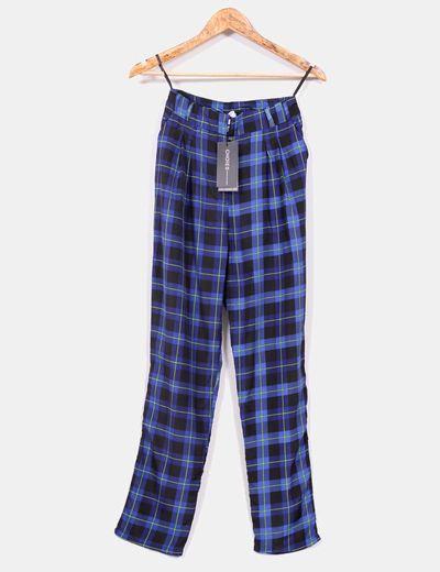 Pantalón cuadros  azules Choies