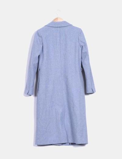 Abrigo azul jaspeado largo