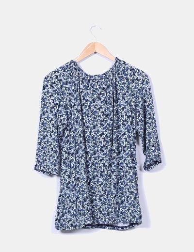 Camiseta estampada floreada