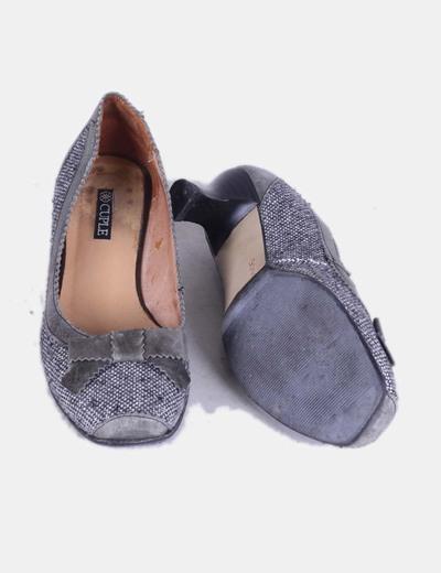Zapatos tweed grises