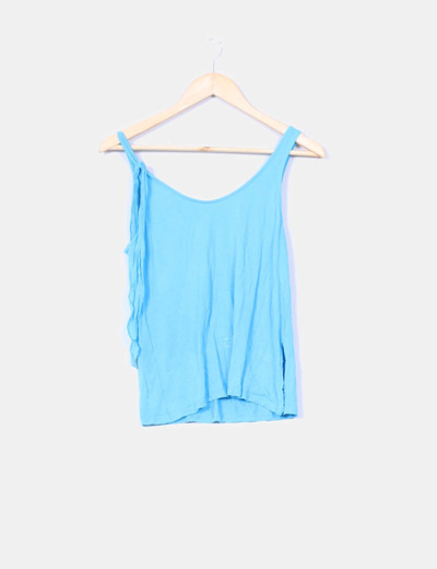 Top azul  Oysho
