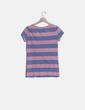 Camiseta de rayas rosa y azul Roxy