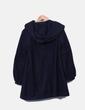Abrigo estilo capa azul marino Zara