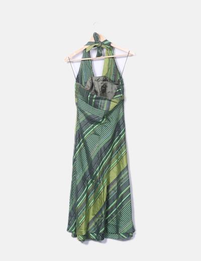 Vestido verde adolfo dominguez