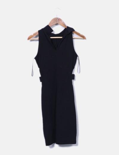 e0dbe5e417 Guess Vestido negro con aberturas laterales (descuento 73%) - Micolet
