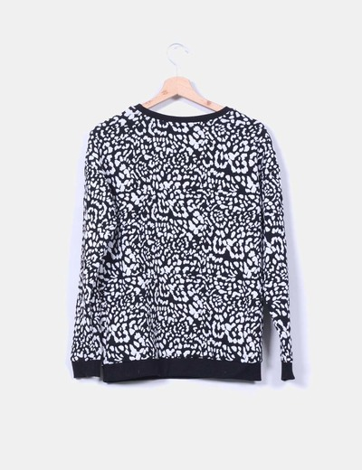 Sudadera black and white texturizada