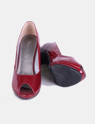 843ebe31 Vero Moda Zapatos rojos charol con punta abierta (descuento 75 %) - Micolet