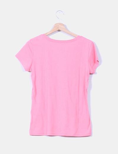 Camiseta rosa print