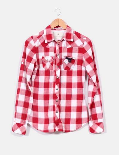 Camisa cuadros rojos Maison Scotch