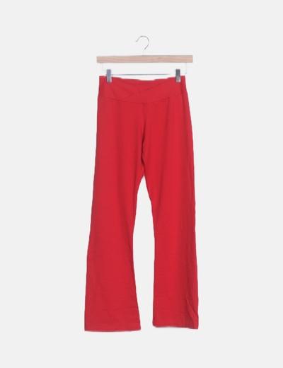 Pantalón lycra rojo bordado