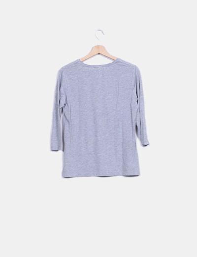 Camiseta gris glitter