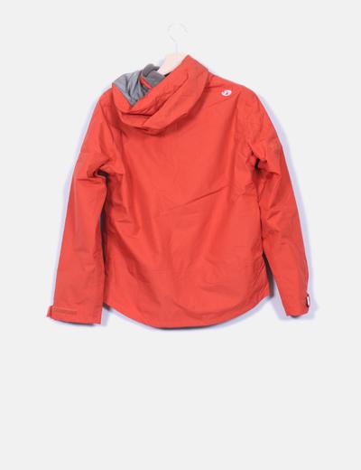 Boutique en ligne a4df1 f1f4a Chaqueta impermeable naranja