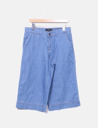 Pantalón culotte denim