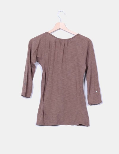 Camiseta marron basica