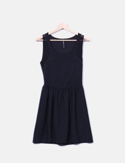 Vestido lady negro texturizado