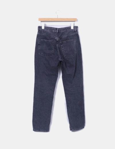Jeans denim vintage fit negro strass