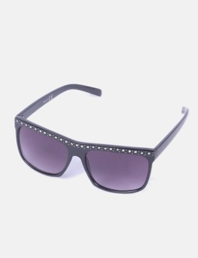 Gafas de sol negras detalle strass