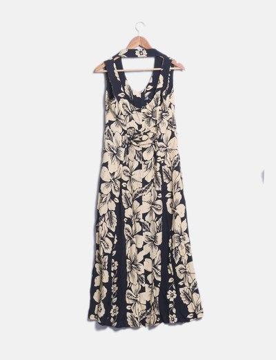 c8d1b96962 Cinemod Vestido negro floral (descuento 79%) - Micolet