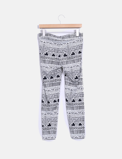 Legging estampado bicolor