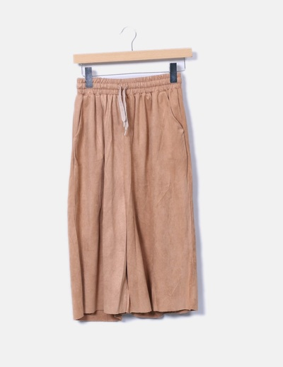 Pantalón culotte antelina camel lm