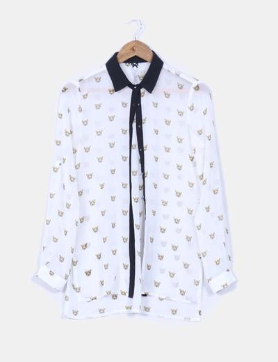 Camisa blanca tigres Stradivarius