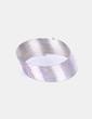 Pulsera plateada circular elastica NoName