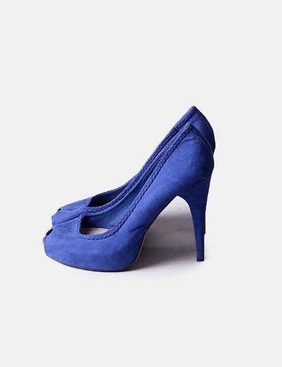 Zapato de tacón azul Pull&Bear