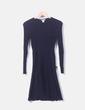 Vestido azul marino canale H&M