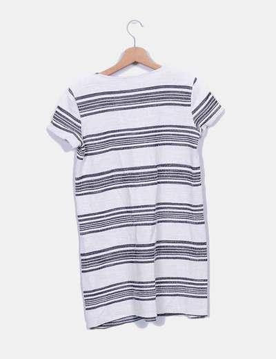 Vestido texturizado de rayas