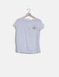 Camiseta blanca estampada Bershka