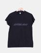 Camiseta negra print 'Intrigada' Roly