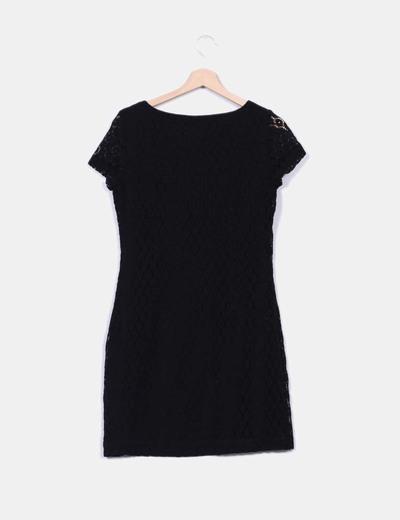 Vestido guipir negro