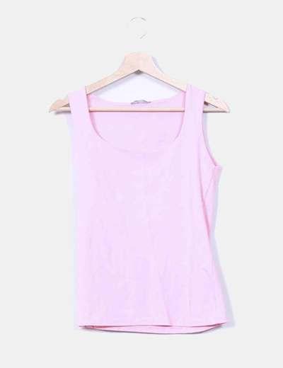Camiseta rosa palo Zara
