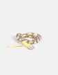 Cinturón amarillo trenzado con cadena NoName