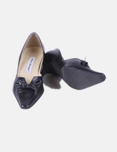 297829eef Pilar Burgos Zapato negro punta (descuento 85%) - Micolet