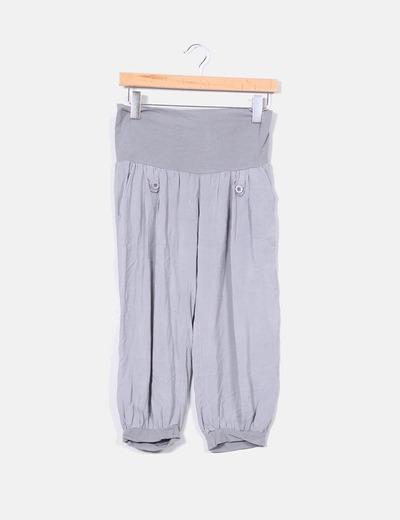 Pantalón gris pirata bombacho NoName