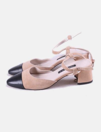Zapato bicolor combinado Zara